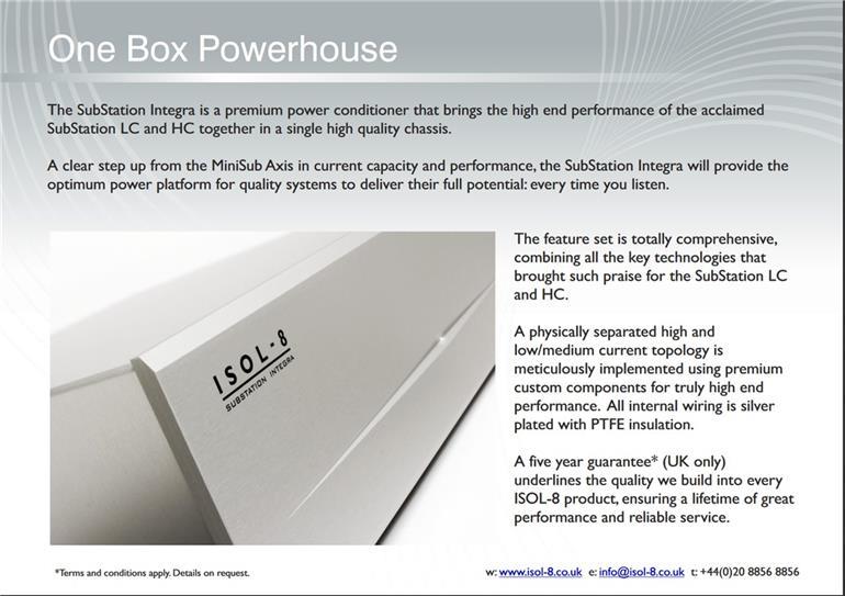 isol 8 substation integra high end dc blocking uvp 2700. Black Bedroom Furniture Sets. Home Design Ideas